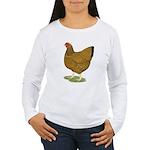 Wyandotte Gold Laced Hen Women's Long Sleeve T-Shi