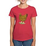 Wyandotte Gold Laced Hen Women's Dark T-Shirt