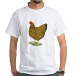 Wyandotte Gold Laced Hen White T-Shirt