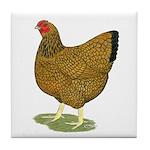 Wyandotte Gold Laced Hen Tile Coaster