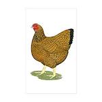 Wyandotte Gold Laced Hen Sticker (Rectangle 10 pk)