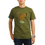 Wyandotte Gold Laced Hen Organic Men's T-Shirt (da