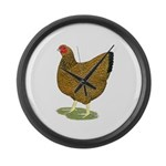 Wyandotte Gold Laced Hen Large Wall Clock