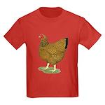 Wyandotte Gold Laced Hen Kids Dark T-Shirt