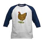 Wyandotte Gold Laced Hen Kids Baseball Jersey
