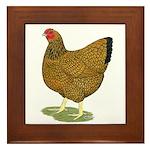 Wyandotte Gold Laced Hen Framed Tile