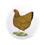 "Wyandotte Gold Laced Hen 3.5"" Button (100 pac"