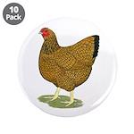 "Wyandotte Gold Laced Hen 3.5"" Button (10 pack"