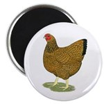 """Wyandotte Gold Laced Hen 2.25"""" Magnet (100 pa"""