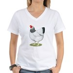 Wyandotte Columbian Hen Women's V-Neck T-Shirt