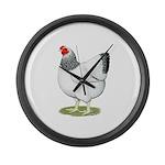 Wyandotte Columbian Hen Large Wall Clock
