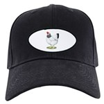 Wyandotte Columbian Hen Black Cap