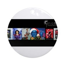 In A Flash Photobooths banner Ornament (Round)