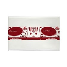Stanton DJ Setup Rectangle Magnet