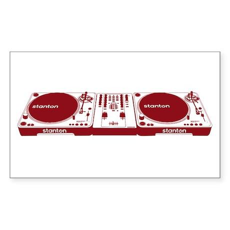 Stanton DJ Setup Sticker (Rectangle)