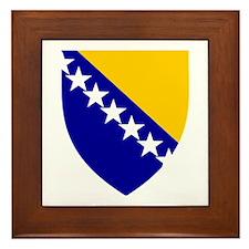 Bosnia Herzegovina Coat of Arms Framed Tile