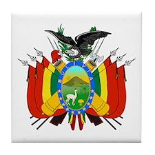 Bolivia Coat of Arms Tile Coaster