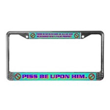 THERE IS NO SUCH GOD AS ALLAH. License Plate Frame