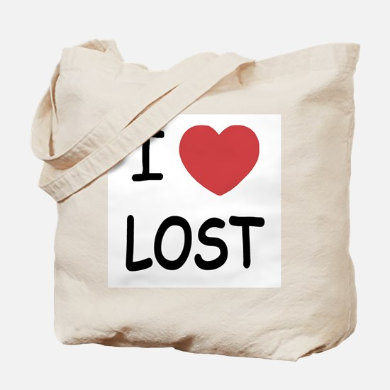 I heart lost Tote Bag