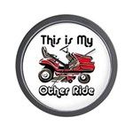 Mower My Other Ride Wall Clock