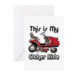 Mower My Other Ride Greeting Cards (Pk of 20)