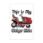 Mower My Other Ride Mini Poster Print