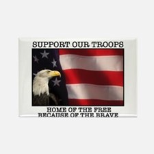 Support Our Troops Rectangle Magnet