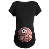 Soccer baby kick Maternity T-shirts (Dark)