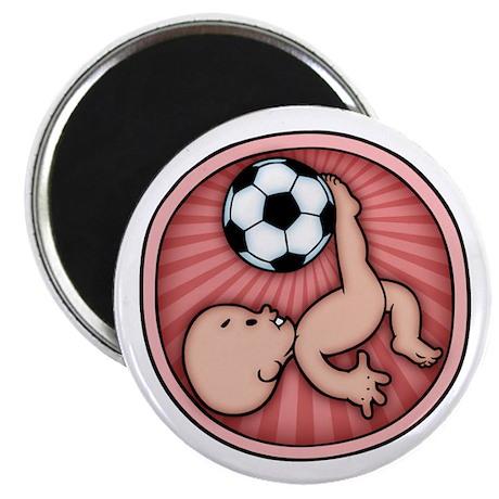 """Soccer Baby Kick 2.25"""" Magnet (100 pack)"""