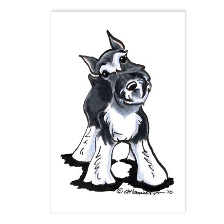 Playful Schnauzer Postcards (Package of 8)