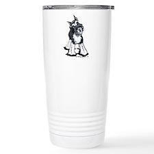 Playful Schnauzer Travel Mug