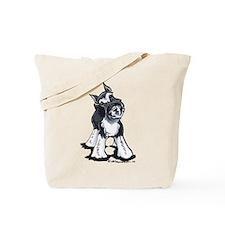 Playful Schnauzer Tote Bag