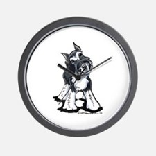 Playful Schnauzer Wall Clock
