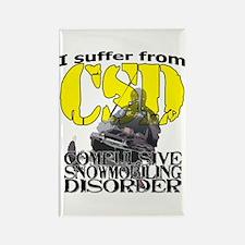 CSD Compulsive Snowmobile Disorde Rectangle Magnet