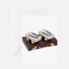 Geta Sandals and Briefcase Greeting Card