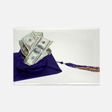 Graduation Cap full of Money Rectangle Magnet (10