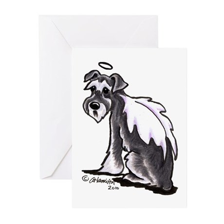 Schnauzer Angel Greeting Cards (Pk of 10)