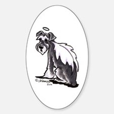 Schnauzer Angel Sticker (Oval)