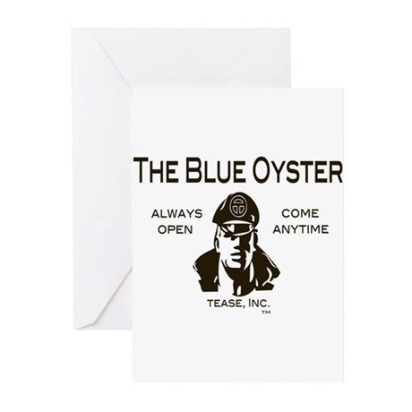 The Blue Oyster - Always Open Greeting Cards (Pk o