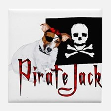 Pirate Jack Russell Tile Coaster