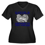 CATCH AND RELEASE Women's Plus Size V-Neck Dark T-
