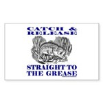 CATCH AND RELEASE Sticker (Rectangle 50 pk)