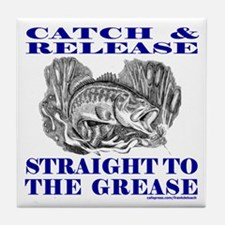 CATCH AND RELEASE Tile Coaster