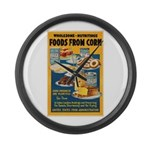 Foods from Corn Large Wall Clock