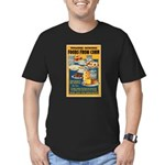 Foods from Corn Men's Fitted T-Shirt (dark)