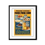 Foods from Corn Framed Panel Print