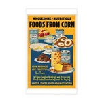 Foods from Corn Sticker (Rectangle)