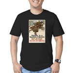 A Question of Stamina Men's Fitted T-Shirt (dark)