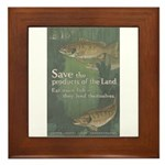 Save the Products of the Land Framed Tile