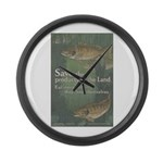 Save the Products of the Land Large Wall Clock
